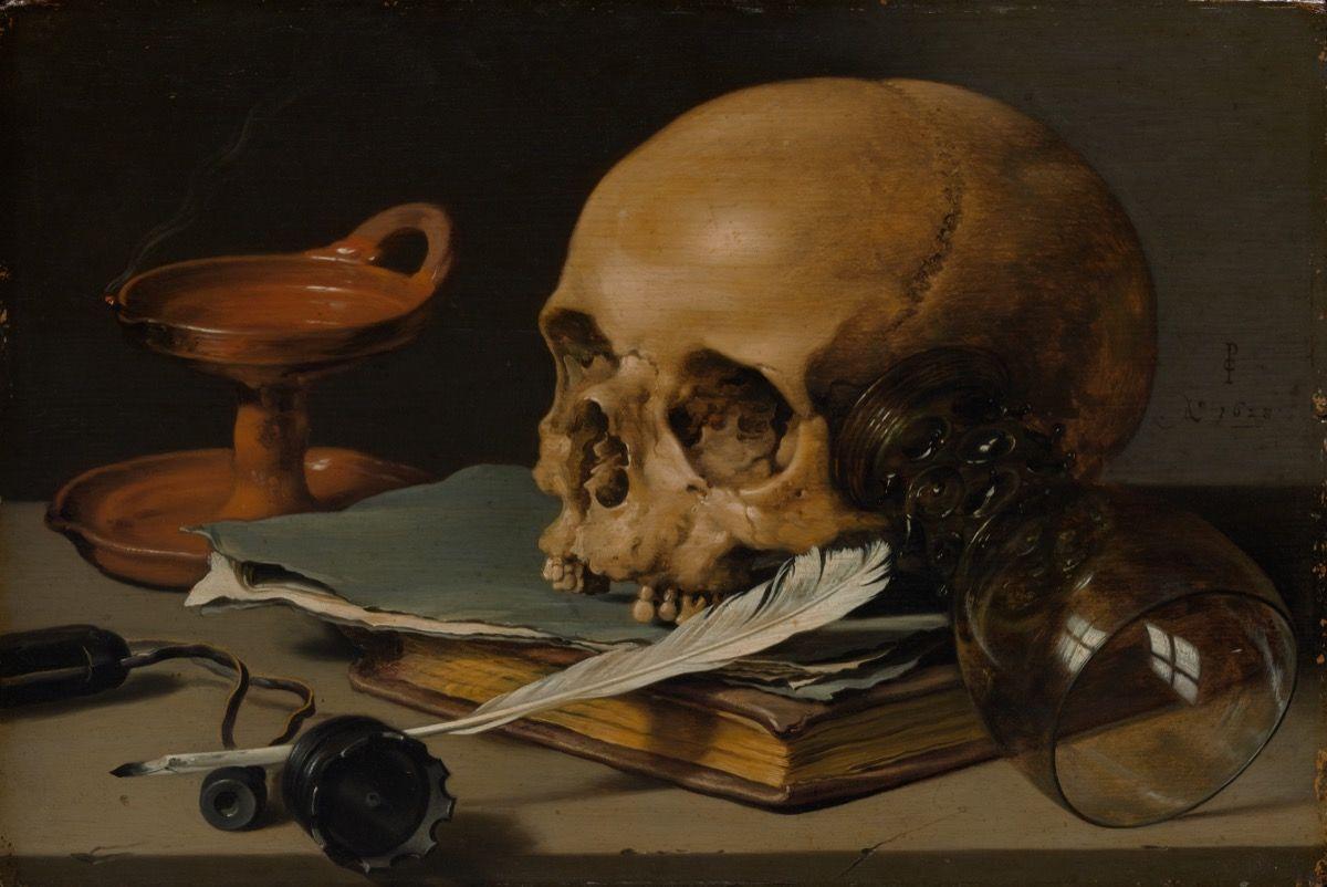 still life with skull